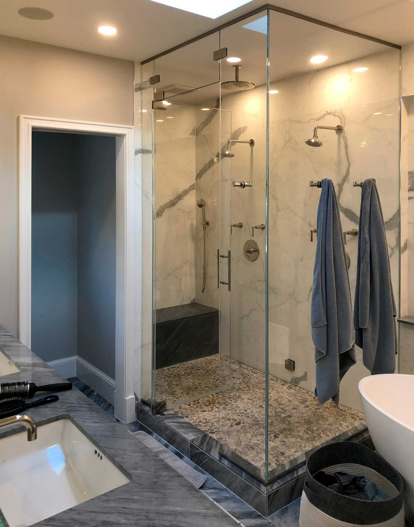 Double shower added to master suite