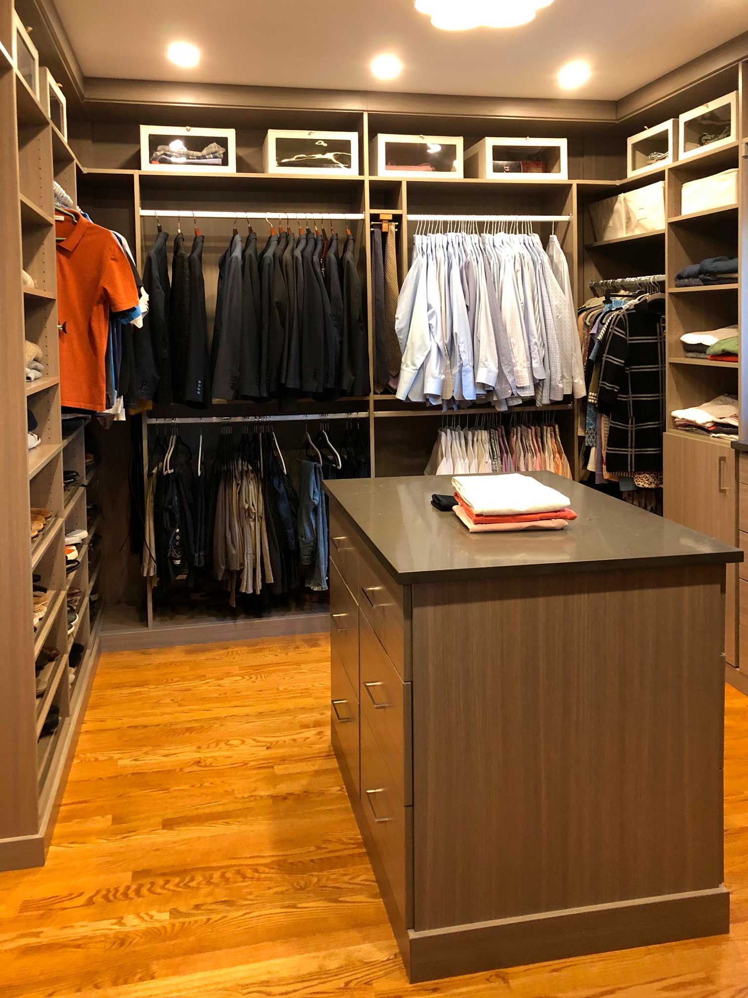 redesigned closet, walk-in, Forest Hills MD